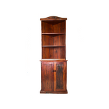 Antique 'Corner Bookcase' Hand Made Red Jarrah Wood Bookcase from Zimbabwe
