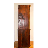 Side View: Antique 'Corner Bookcase' Hand Made Red Jarrah Wood Bookcase from Zimbabwe