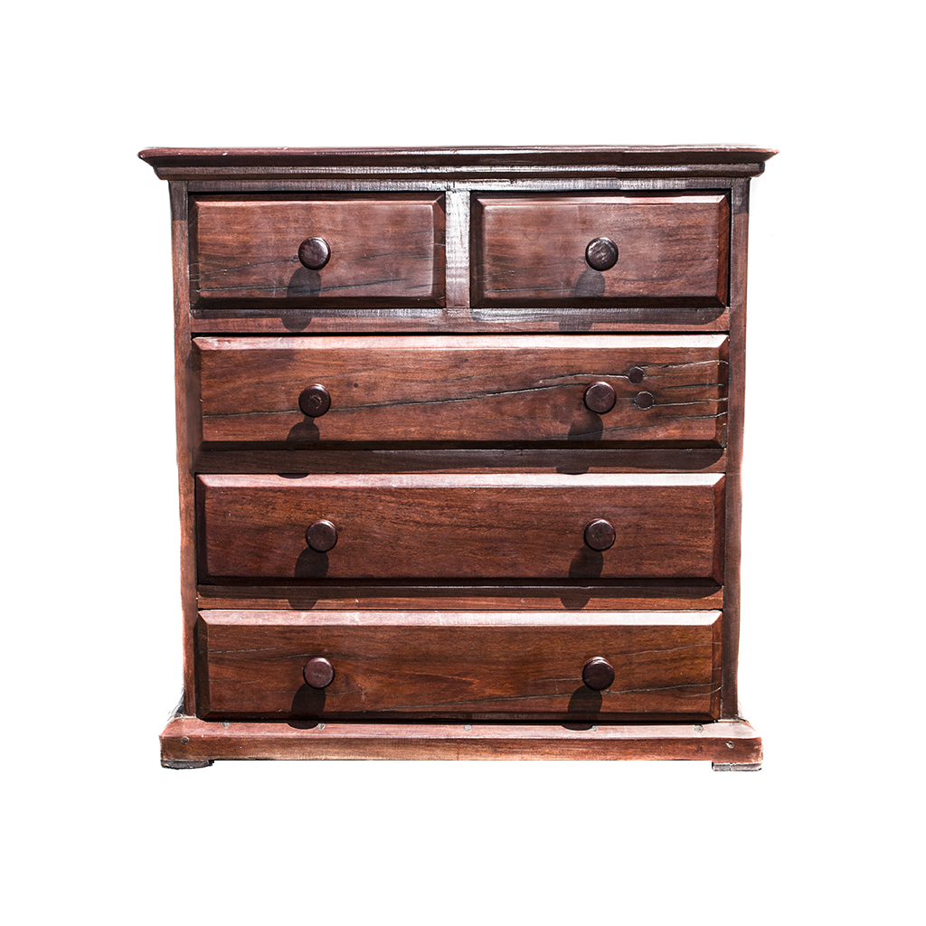 Antique Hand Made Red Jarrah Wood Dresser from Zimbabwe