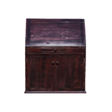Front view: Antique Hand Made Red Jarrah Wood 'Convertible Desk' from Zimbabwe
