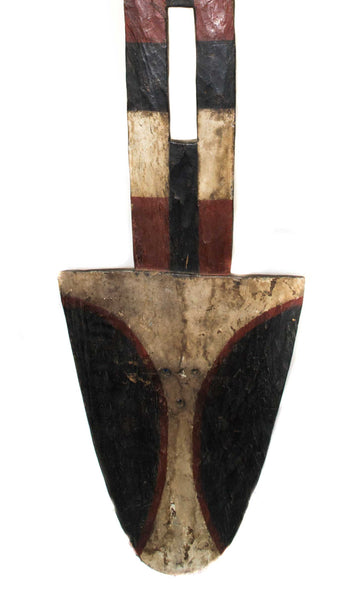Close of up of bottom of mask:  Authentic 'Bedu Mask' from Cameroon Made in 1963
