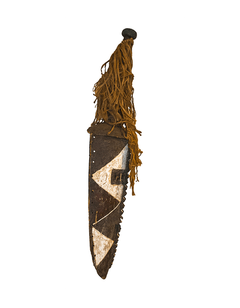 Profile view: Authentic 'Mossi Tribe Mask' from Burkina Faso Made in 1953
