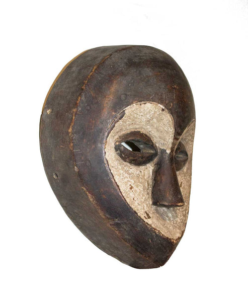 One of a kind African Fine Art: Authentic 'Kwele Mask' from Cameroon Made in 1968