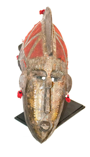Profile view: Authentic 'Dogon Mask' from Mali Made in 1948