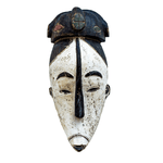 One of a kind African Fine Art: Authentic 'Fang Mask' from Cameroon Made in 1988