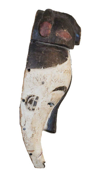 Profile view: Authentic 'Fang Mask' from Cameroon Made in 1988