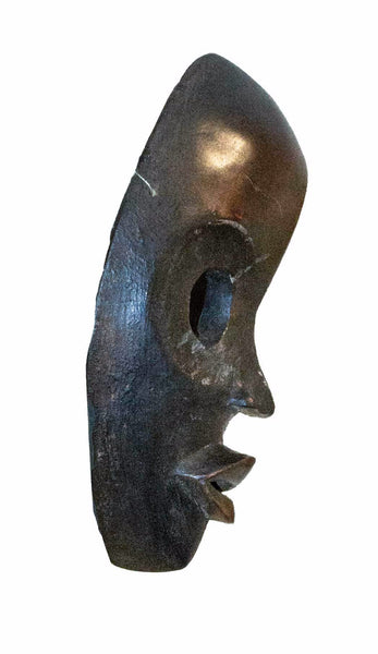 Profile view: Authentic 'Dan Mask' from the Ivory Coast Made in 1978