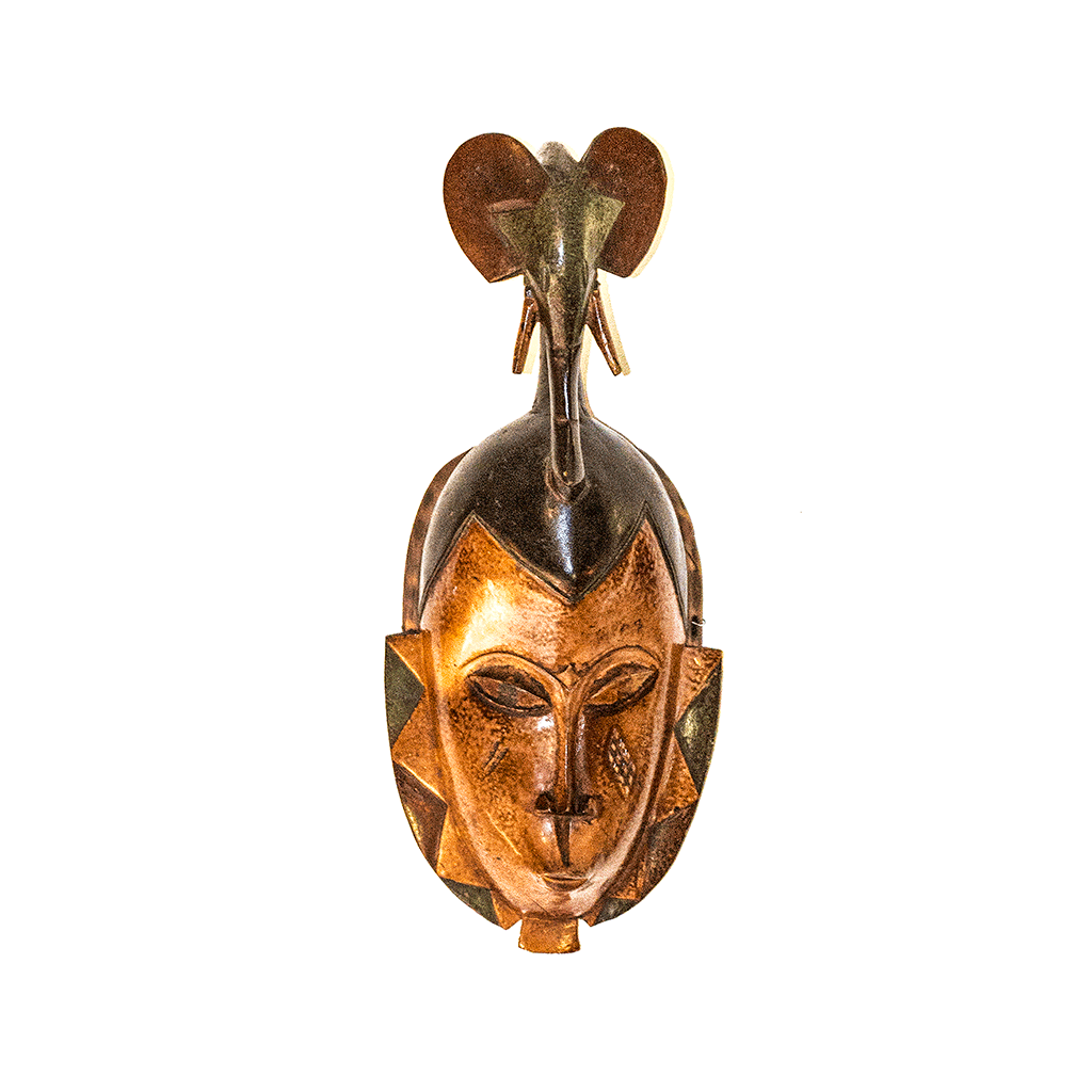 One of a kind African Fine Art: Authentic 'Guro Mask' from the Ivory Coast Made in 1993