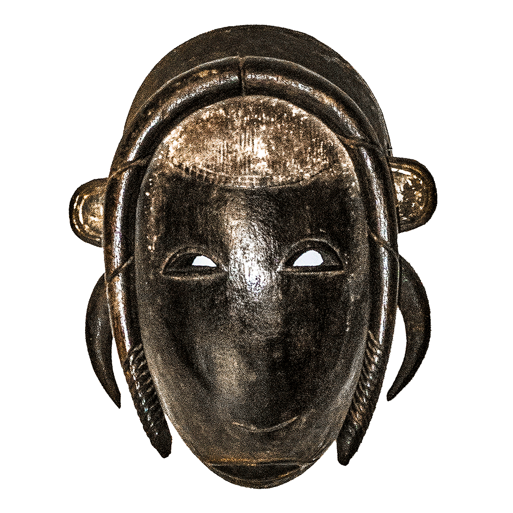One of a kind African Fine Art: Authentic 'Guro Mask' from the Ivory Coast Made in 1983