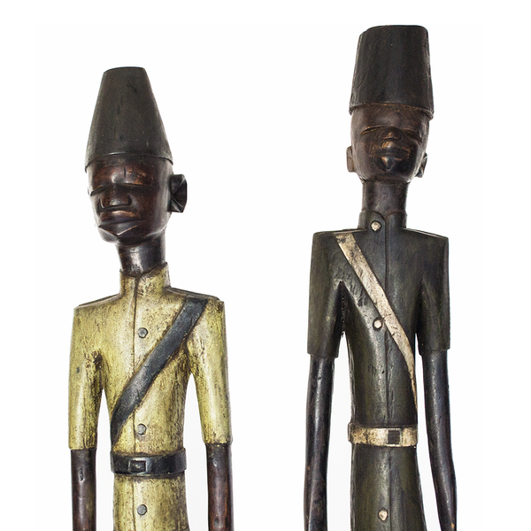 """Colonial Figure"" Artifact from the Ivory Coast Made in 1960"
