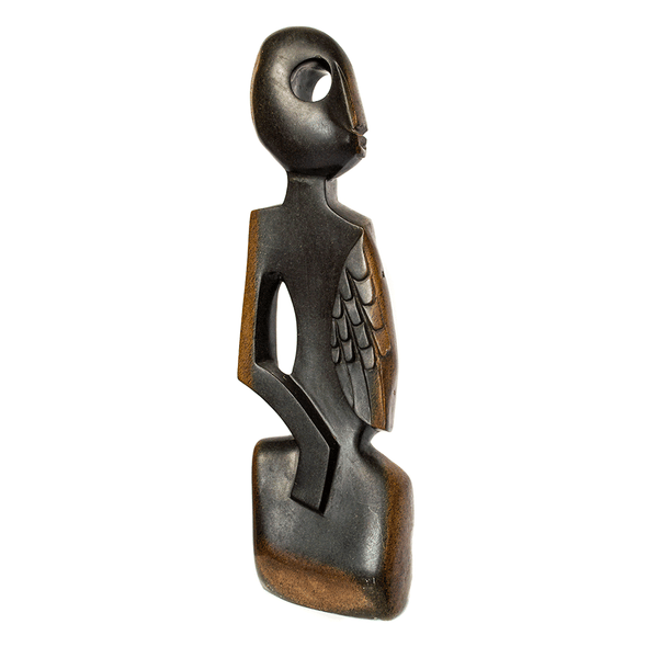 One of a kind African Fine Art: Hand Carved Stone Sculpture 'Sweet Girl' by Zimbabwean Artist Pfungwa Dziike Made in 1990