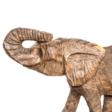 One of a kind African fine art: Authentic Hand Carved Wooden 'Elephant' Sculpture from Kenya Made in 1988