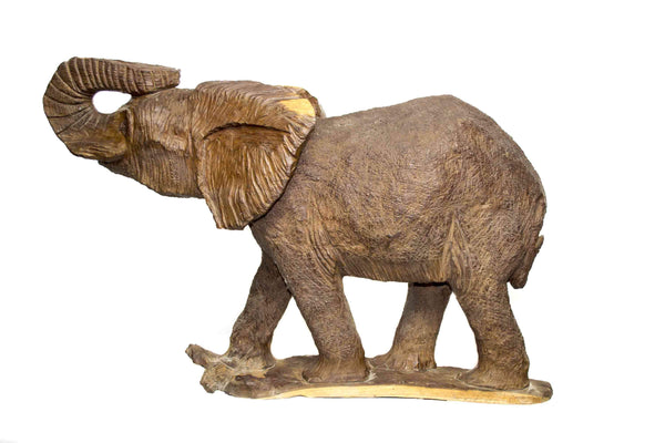 Full view: One of a kind African fine art: Authentic Hand Carved Wooden 'Elephant' Sculpture from Kenya Made in 1988