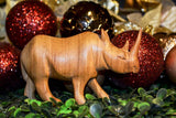 Size medium, alternate view: Authentic Vintage Hand Carved Teak Wood 'Rhino' Figurine from Kenya