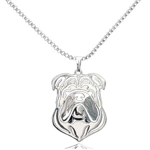 English Bulldog Pendant Necklaces Silver Plated For Women Fashion Handmade Pet Memorial Jewelry for Pet Lovers Jewelry Wholesale