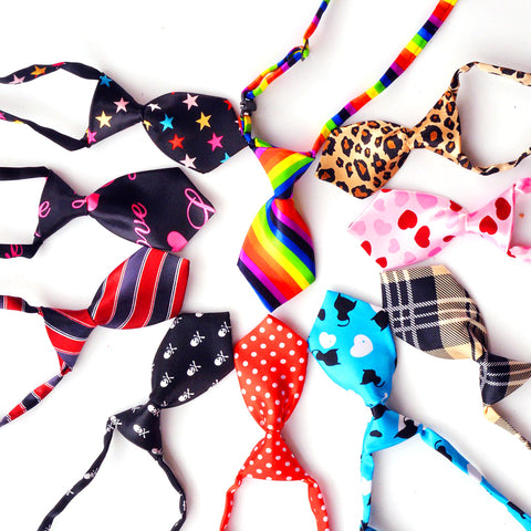 10 pcs Colorful Dog Tie Bows