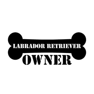 15cm*6.2cm Personalized  Labrador Retriever Owner Bone Car Stickers C5-1529