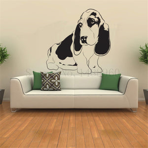Basset Hound Wall Stickers