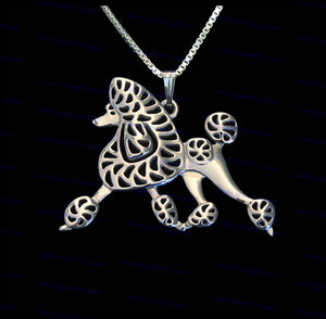 wholesale cartoon poodle necklace New Fashion poodle dog jewelry Silver/gold colors plated 12pcs/lot