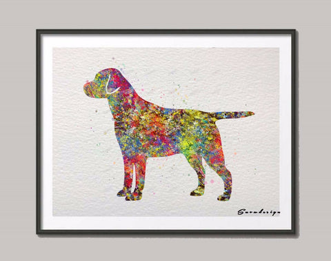 Labrador Retriever Original watercolor canvas painting Dog wall art poster print Pictures living room Decoration Home decor gift