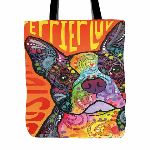 Boston Terrier  Tote Bag  Shopping Handle