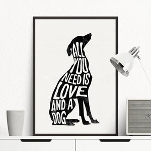 Greyhound  Minimalist Poster  Print Canvas Painting No Frame