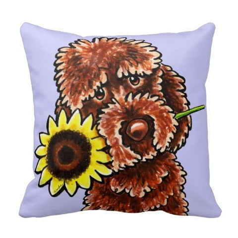 Labradoodle Cushion Cover (Size: 45x45cm)
