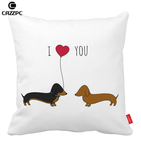 I Love You Dachshund  Pillowcase