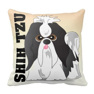 Shih Tzu  Printed Pillow  Cover