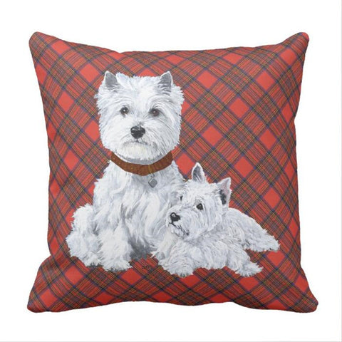 West Highland White Terrier  Pillow case