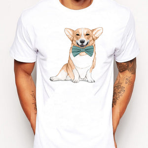 Men T Shirts  Corgi Dog Design