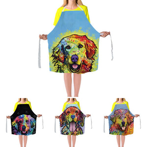 Golden retriever  Apron Dress Golden Retriever Man Woman Aprons Custom Home Cleaning Aprons