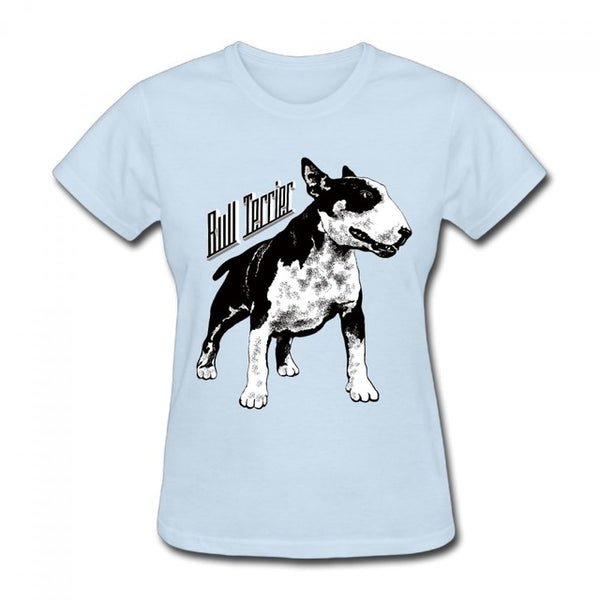 Bull terrier t-shirt for women