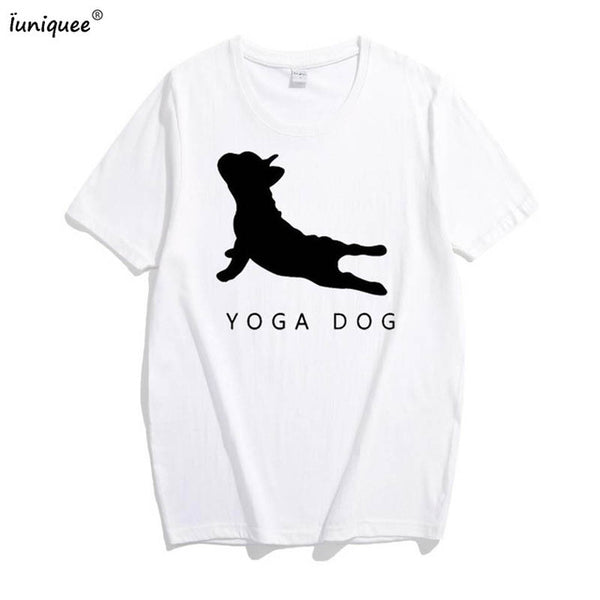 Stylish dog lovers yoga dog shirt for Women