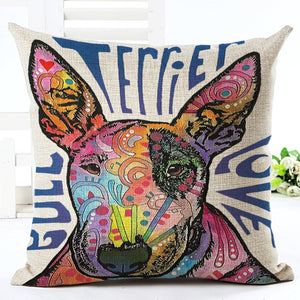 Fashion Style Cute Bull Terrier Pillowcase