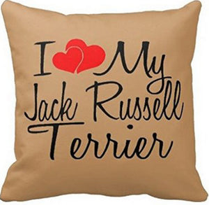 i Love My Jack Russell Terrier Pillowcase