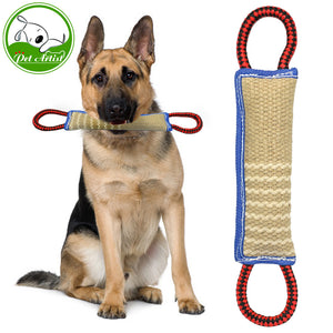 Linen Toy With Two Handles For Adult Dogs And Puppies for  Training Play and Throw