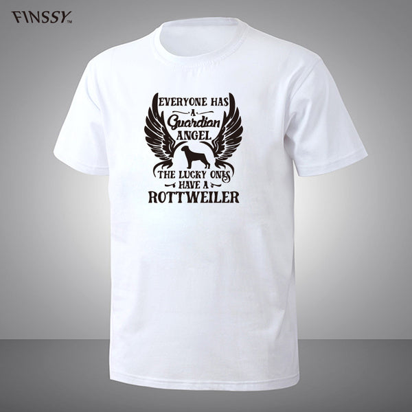 My Guardian Angel Is A Rottweiler T Shirt for Men