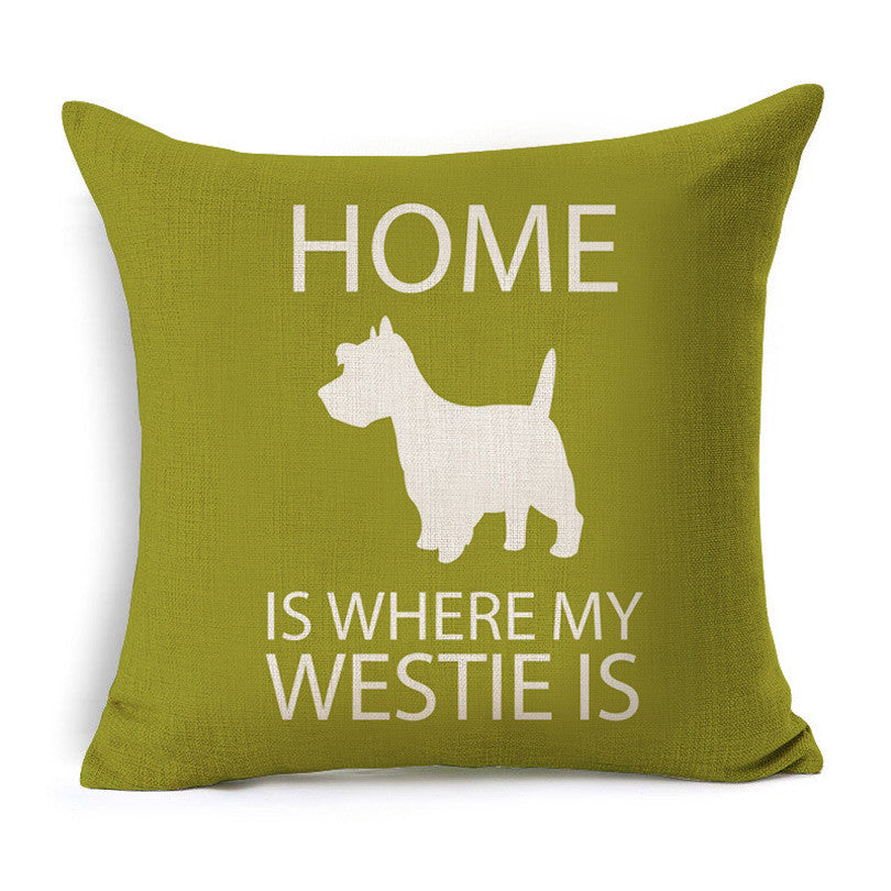44*44 cm Westie  Cushion Covers