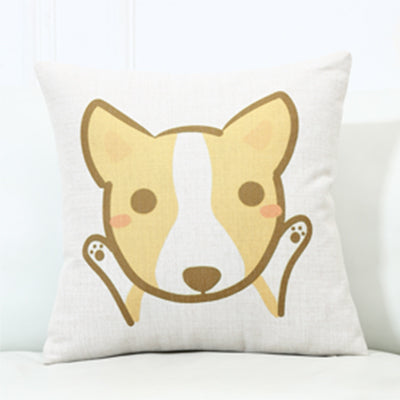 Welsh Corgi Pembroke  Print Cushion Cover S