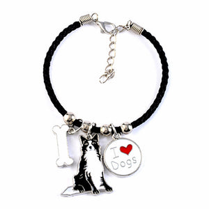 Border Collie charm bracelets