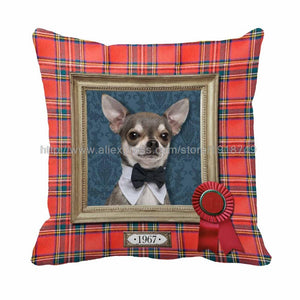cute  chihuahua  pillow cover