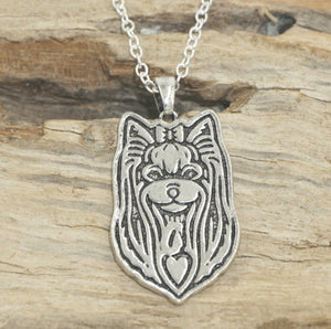 Yorkshire Terrier Necklaces&pendants Yorkshire Terrier Collare Bijoux Femme Silver Jewelry For Woman&man gift 2016 New