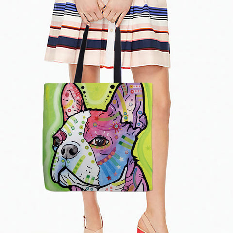 French Bulldog Shopping Tote Bags