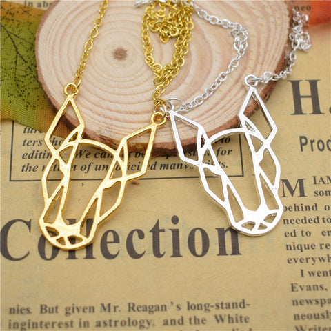 trendy hippie Bull Terrier necklace pendant necklace for Women chain choker Collars