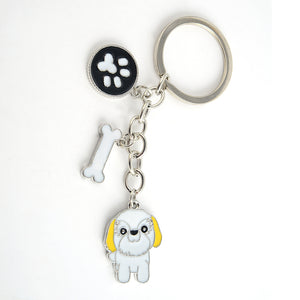 Shih Tzu  key chains  silver color metal alloy pet dog bag charm
