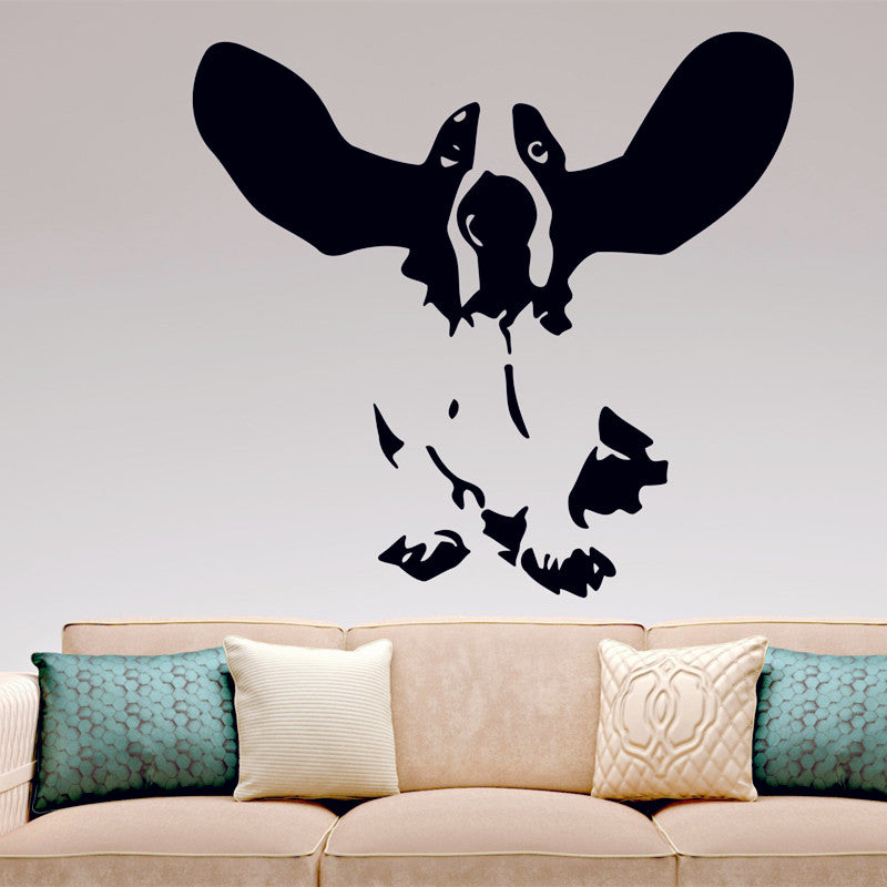 Basset Hound Wall Decal Vinyl Sticker