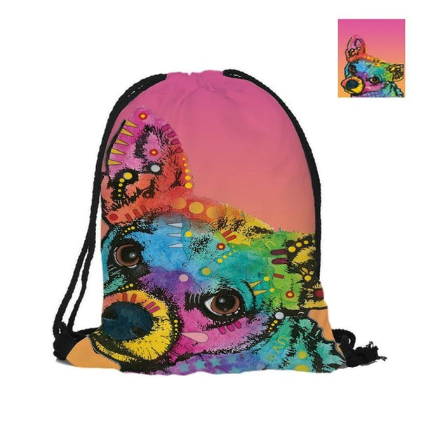 Chihuahua  Double Sided Printing Bag