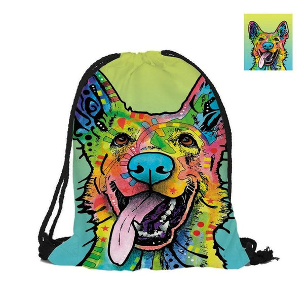 German Shepherd Double Sided 3D Printing Fashion Backpack