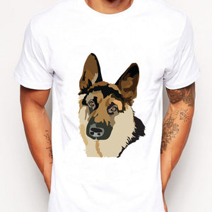 German shepherd print Men T Shirts